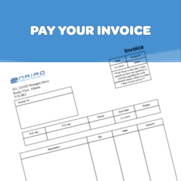 Pay Your NAIAD invoice